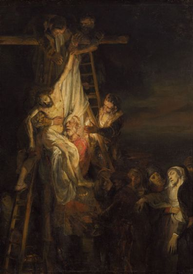 Rembrandt (Workshop): Descent from the Cross. Fine Art Print/Poster. Sizes: A4/A3/A2/A1 (004308)